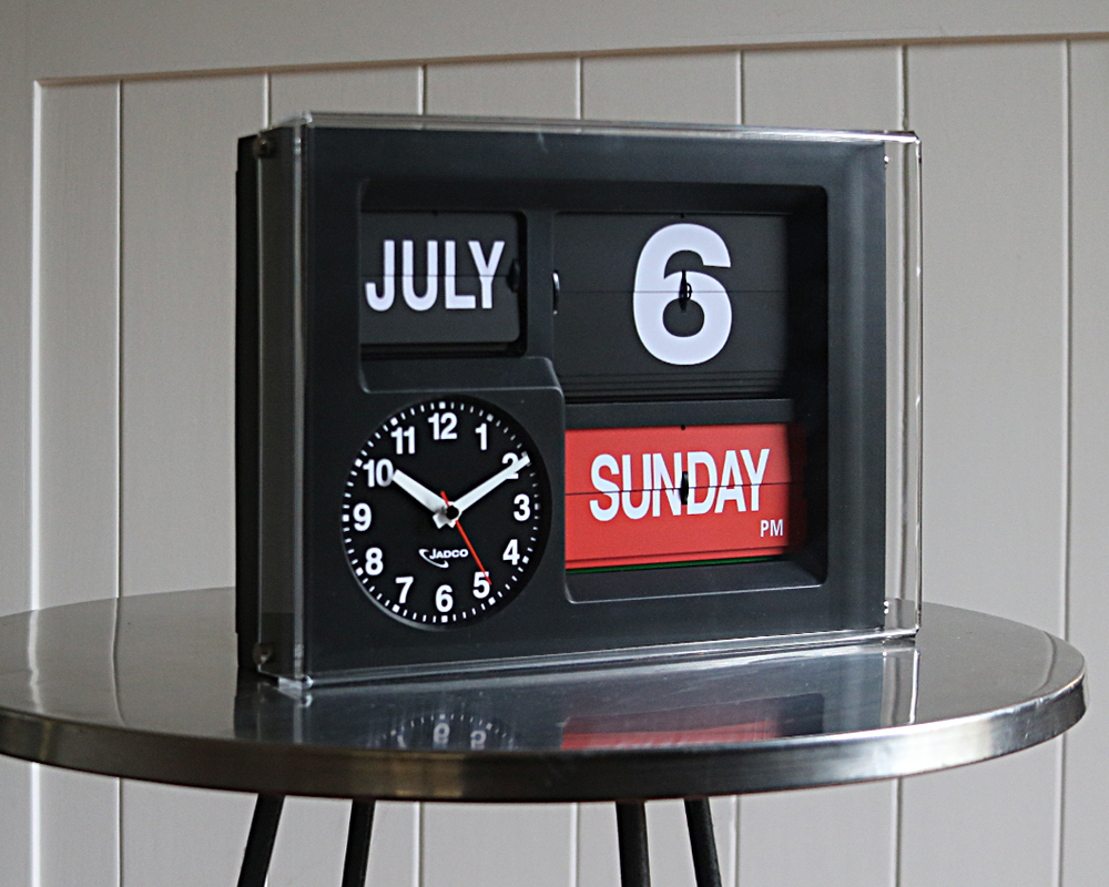 Jadco Time Calendar Clock With Day Spelt In Full Jadco