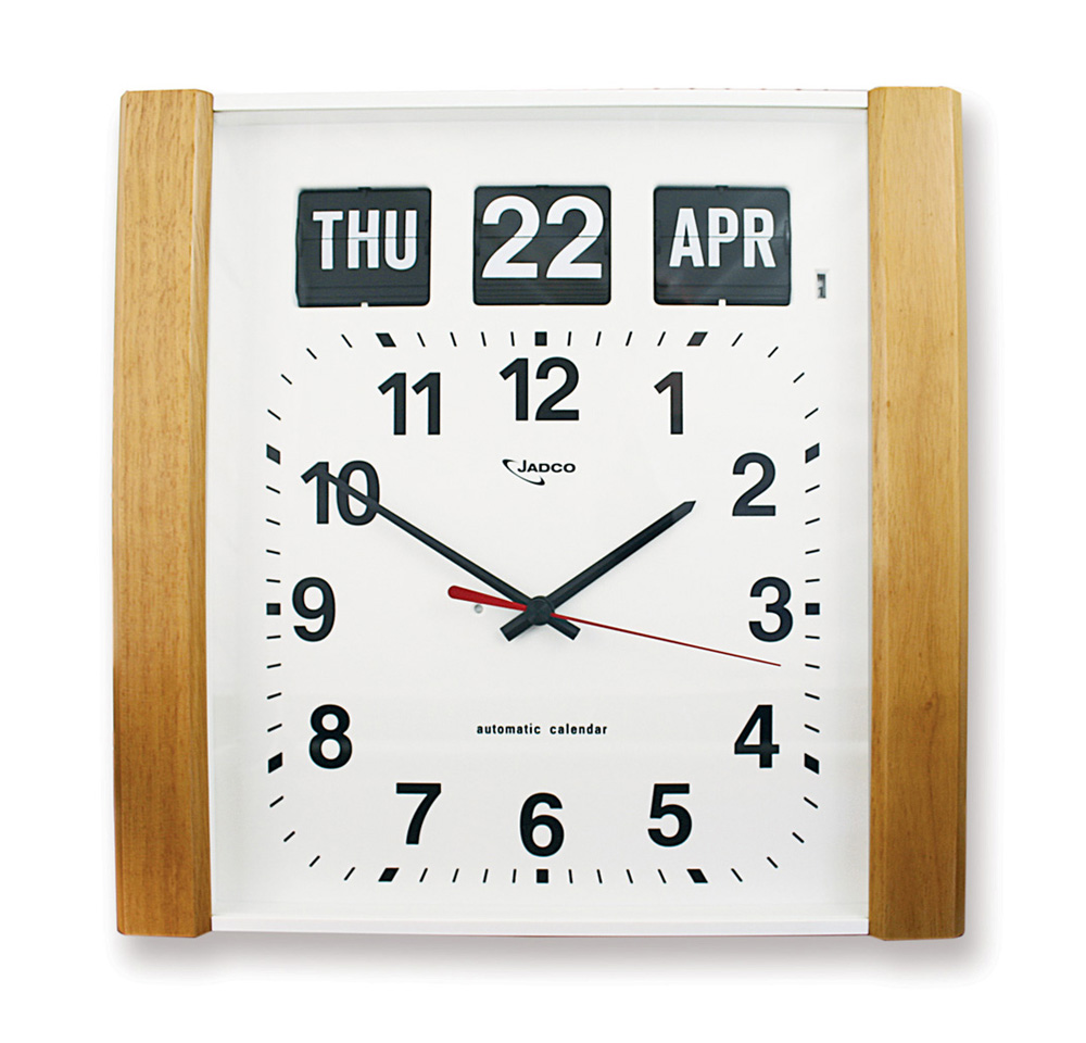 Jadco Time Woodgrain Automatic Calendar Clock Jadco Time