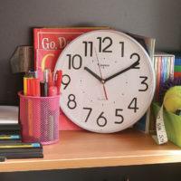 Jadco CS1067 School Clock on shelf