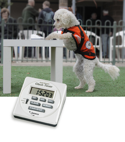 hearing-dog-with-jadco-870a-timer