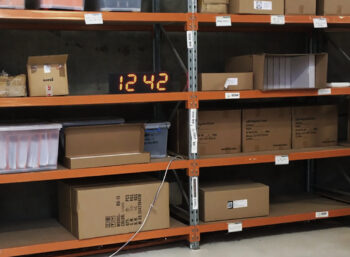 Large LED clock for warehouses
